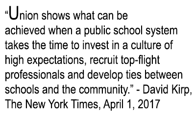 Union shows what can be achieved when a public school system takes the time to invest....