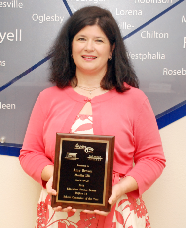 2014 Region 12 Counselor of the Year, Amy Brown