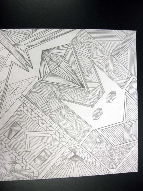 Straight Line Design Art : Monahans high school straight line design art