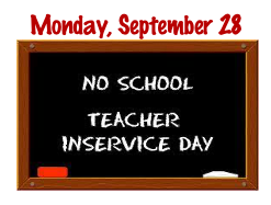 No School for Students - Monday, September 28