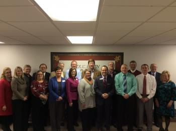 Photo of Member Superintendents, Co-Op Employees, and ADE Employees