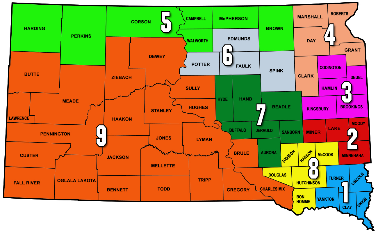 SD Corn Growers Association South Dakota Corn - Political map of south dakota