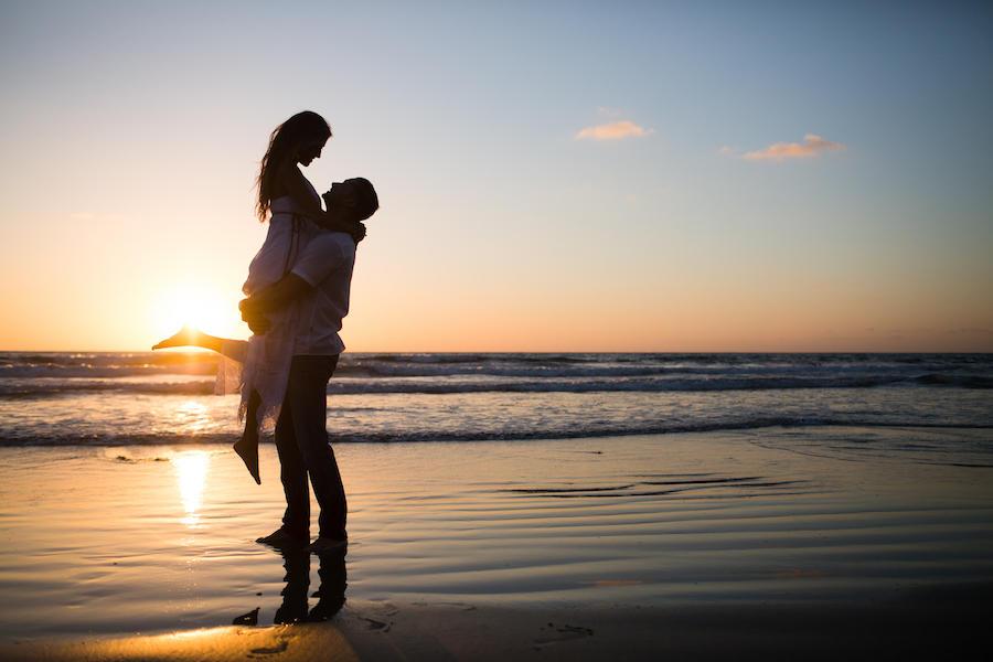 beach silhouette image