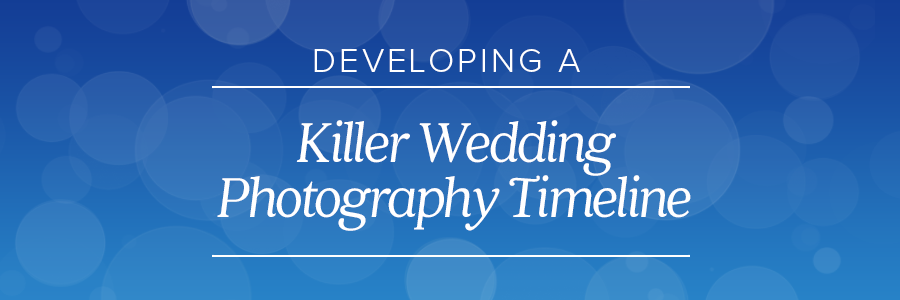 wedding photography timeline