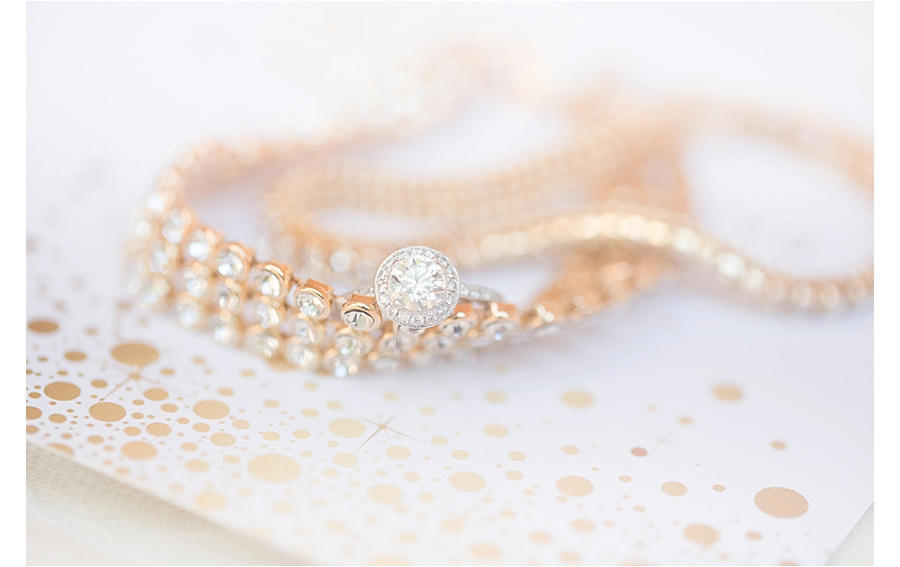 gold ring and jewelry wedding photography