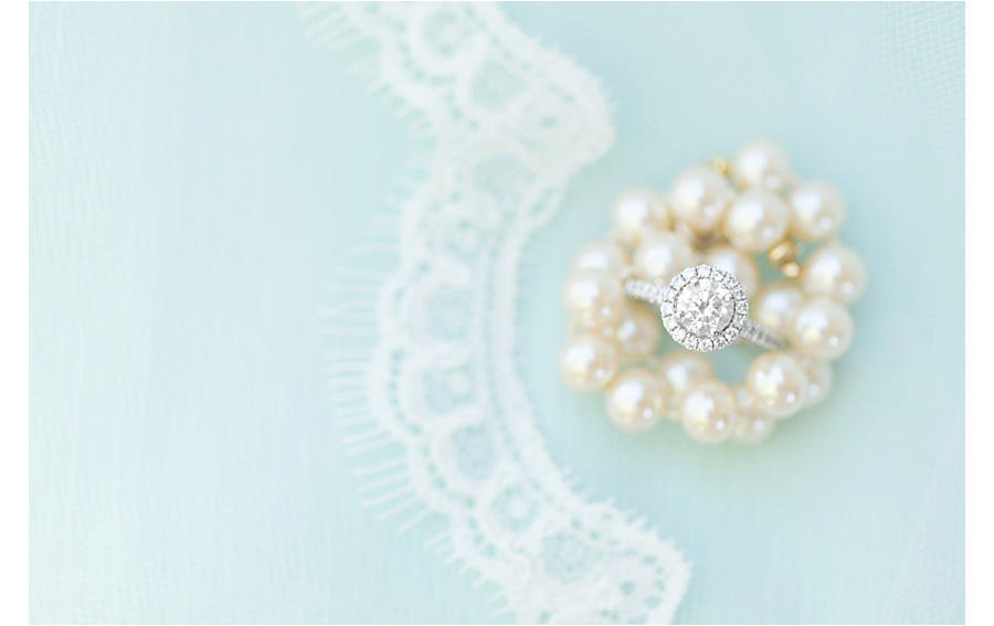 wedding ring and pearls