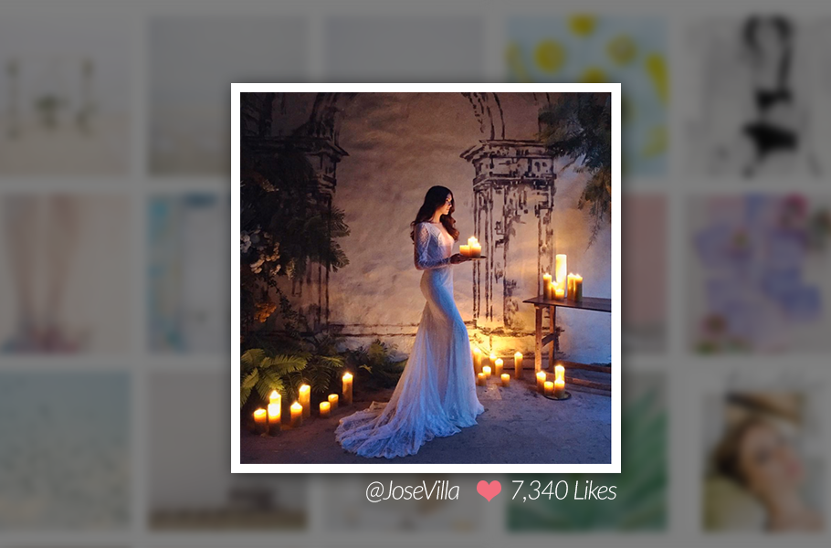 Jose Villa Bride Image on Instagram
