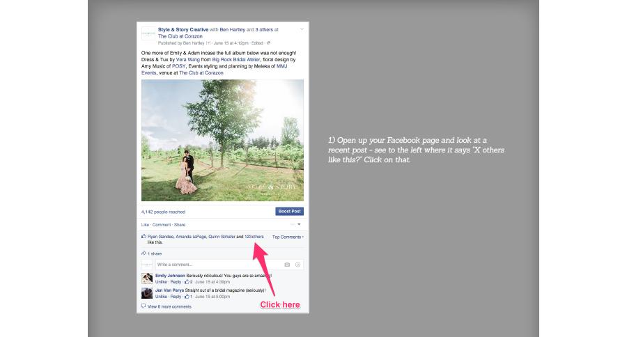 step 1 facebook likes