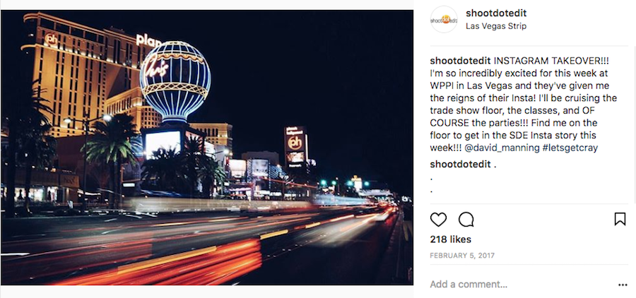 instagram takeover post at wppi 2017