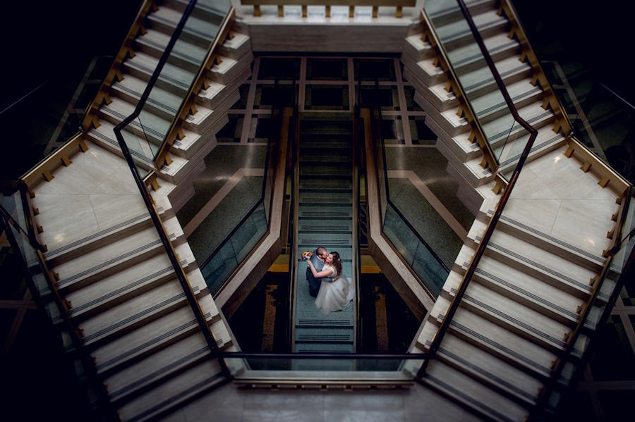 wedding photography staircase