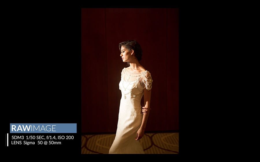 wedding lighting setup for bridal portraits
