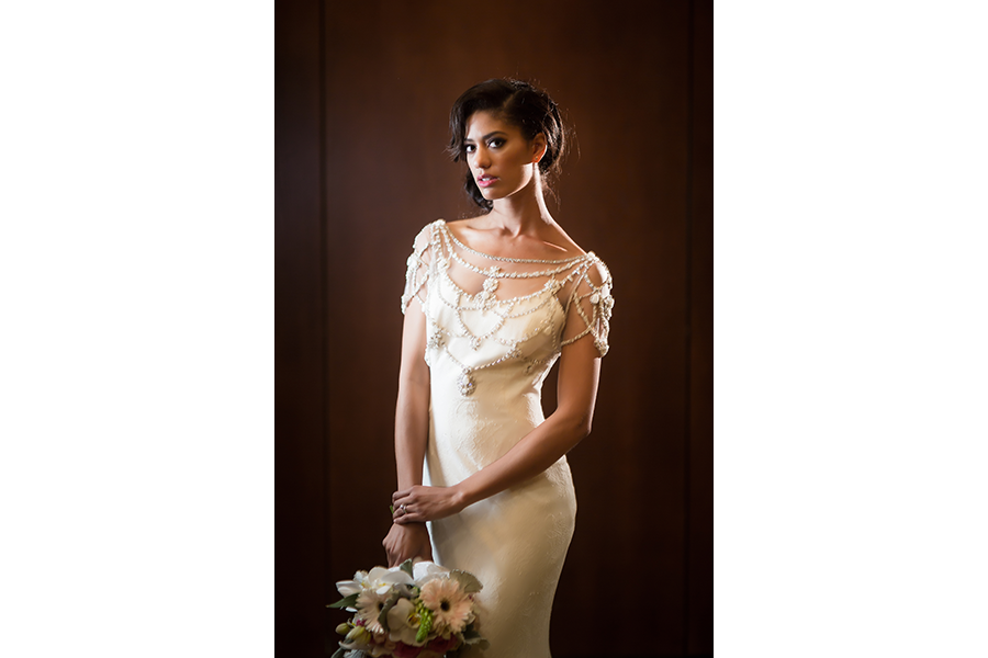 indoor flash photography for wedding bridal portraits