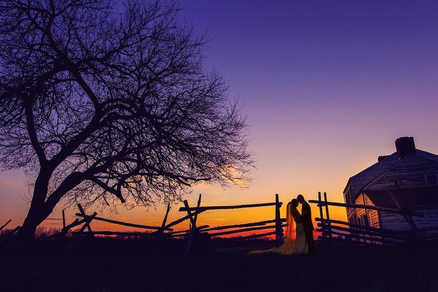wedding photography sunset image