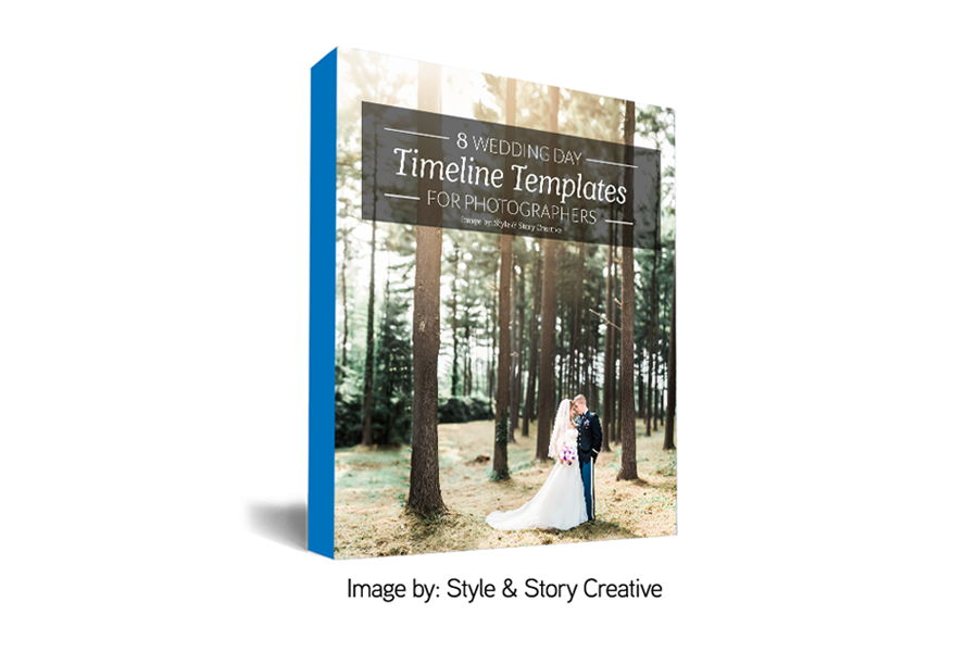 wedding day timeline templates for photographers