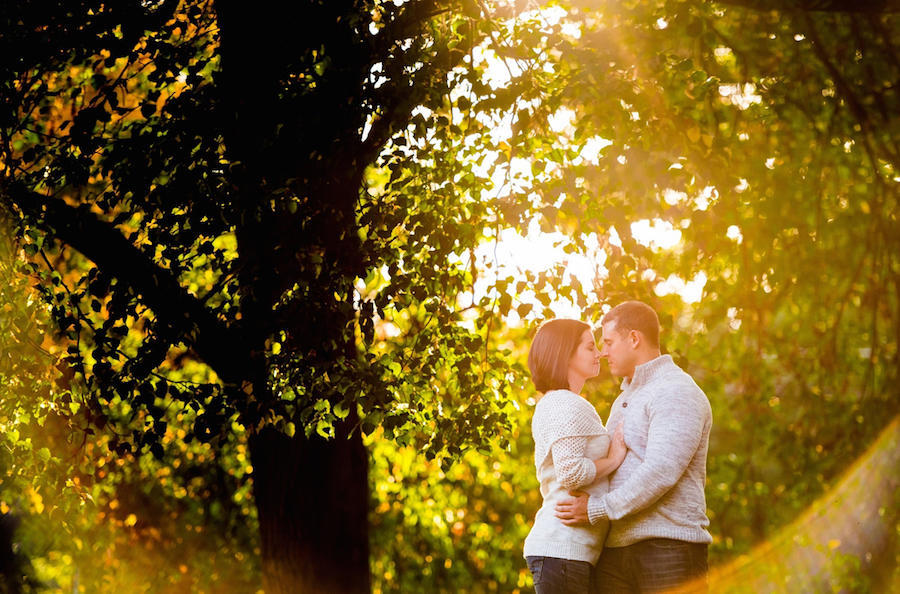 engagement photo lens flare