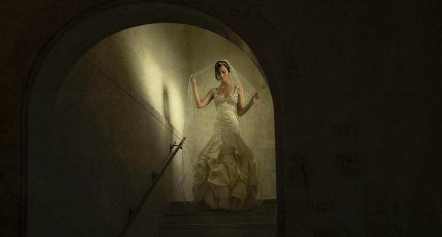 bridal portraits window light