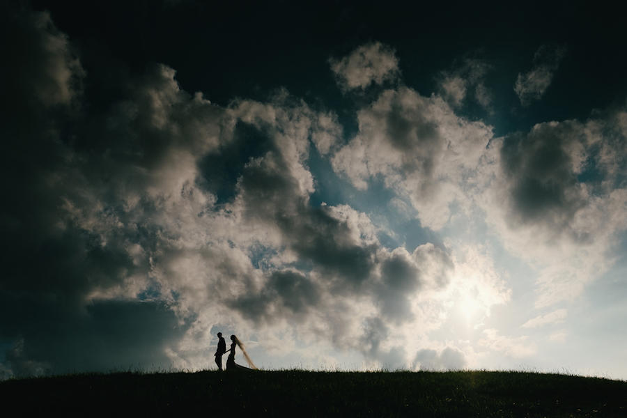 wedding photography clouds