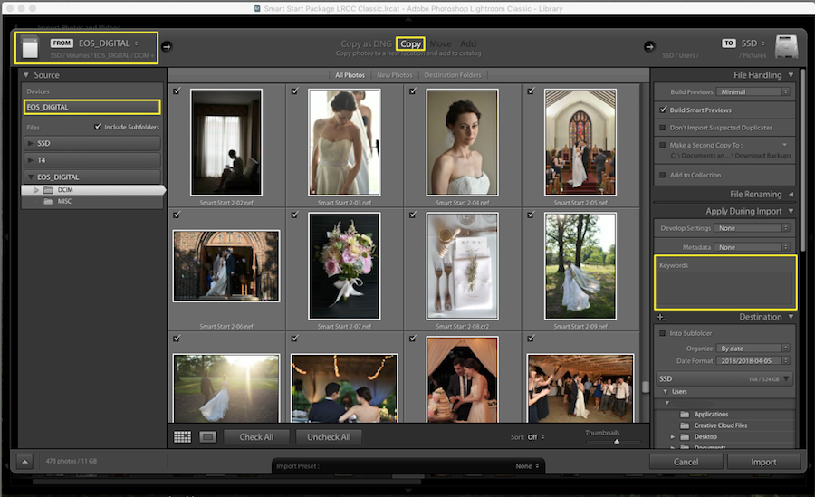add metadata to images lightroom