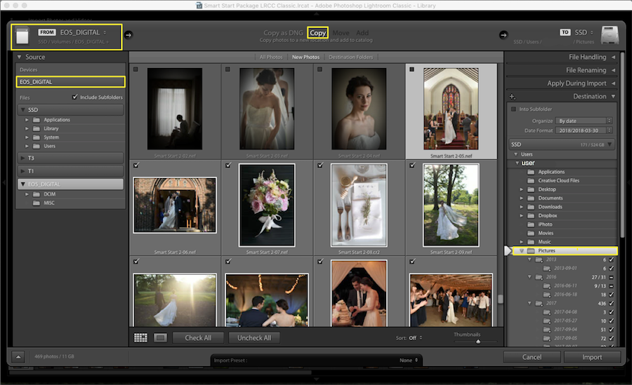 save raw images in lightroom