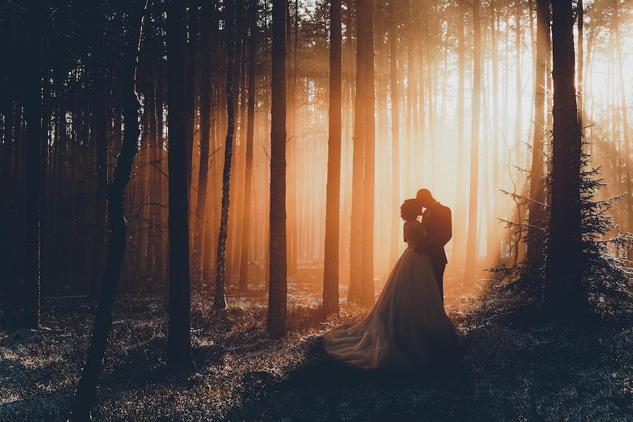 couple portraits sunset
