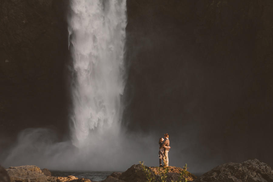 engagement shoot waterfall