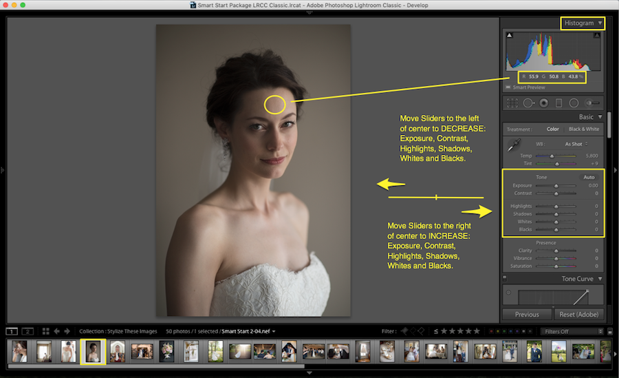 exposure in lightroom tools
