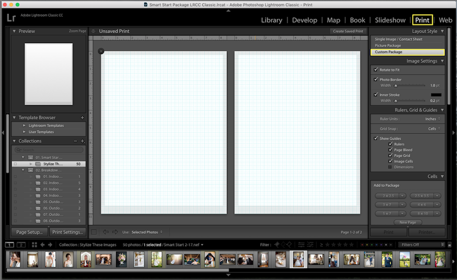 lightroom collage workspace