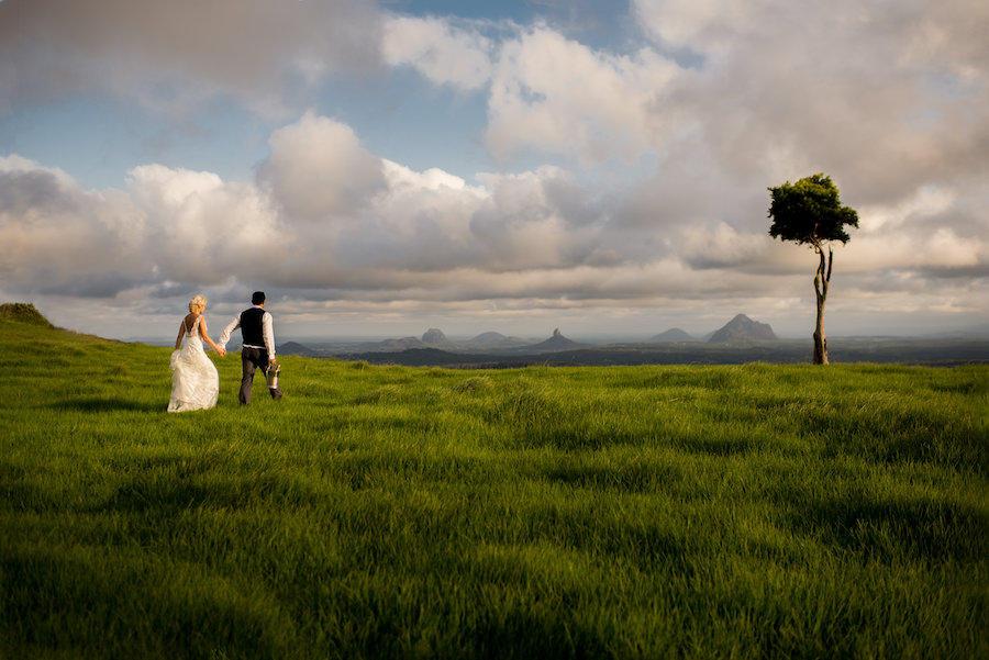 open sky wedding portraits