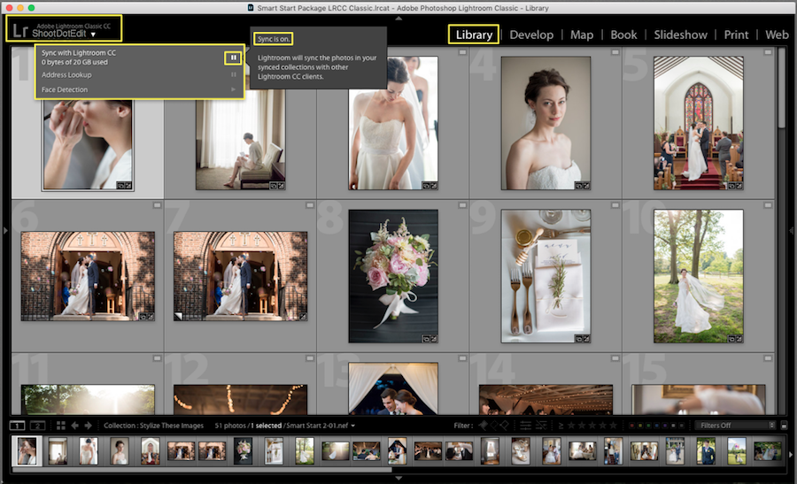how to enable syncing in lightroom