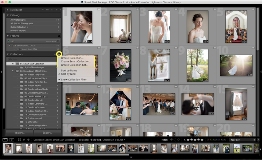 create collection lightroom