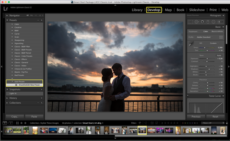 apply lightroom preset