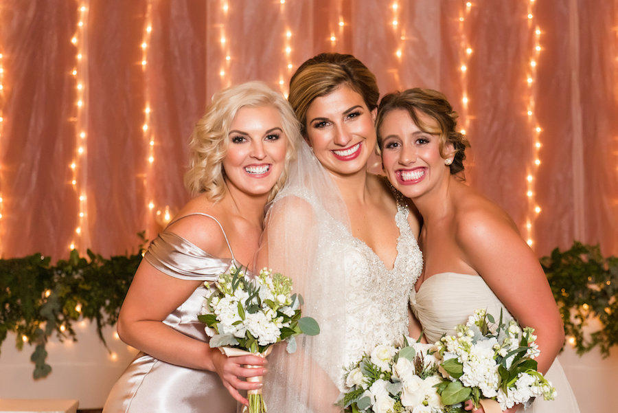 bride and bridesmaids indoor photo
