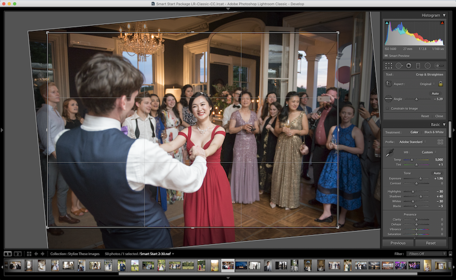 straightening images lightroom