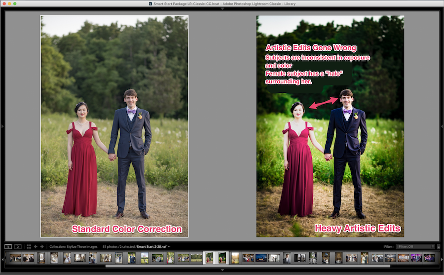 adding artistic edits in lightroom