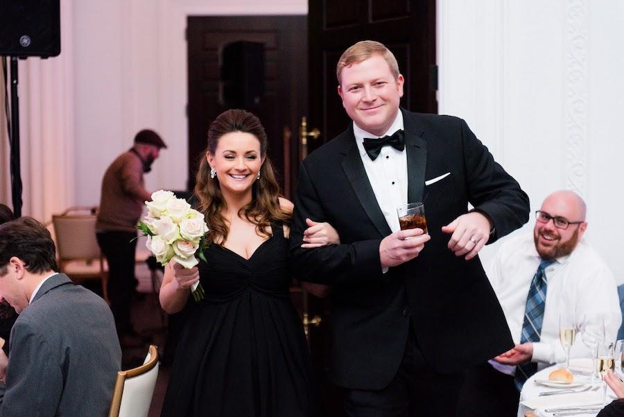 wedding party entering reception