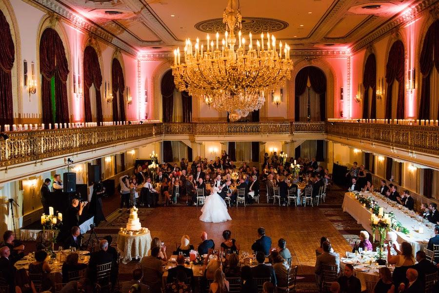 first dance in reception hall