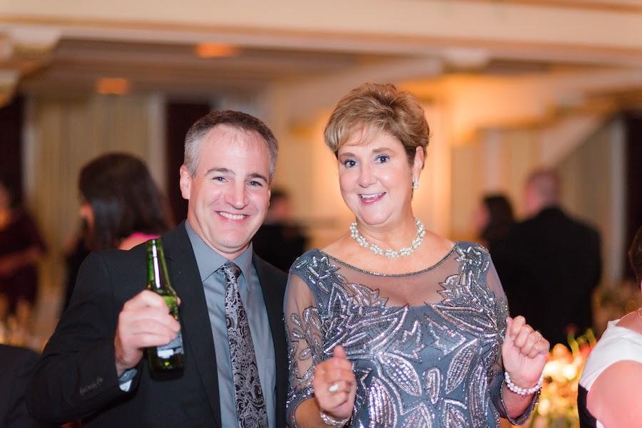 couple attending wedding reception