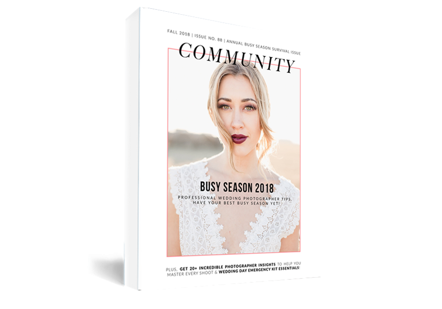 community busy season 2018 book graphic