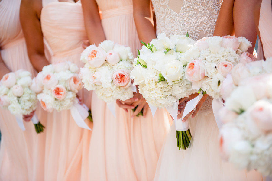 A wedding bridal party image by Leeann Marie, Wedding Photographers of the girls' bouquets.