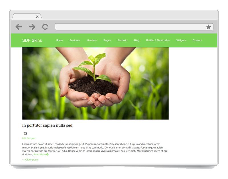 Evergreen WordPress theme