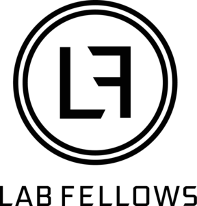 Labfellows logo icon txt black rgb 576 600