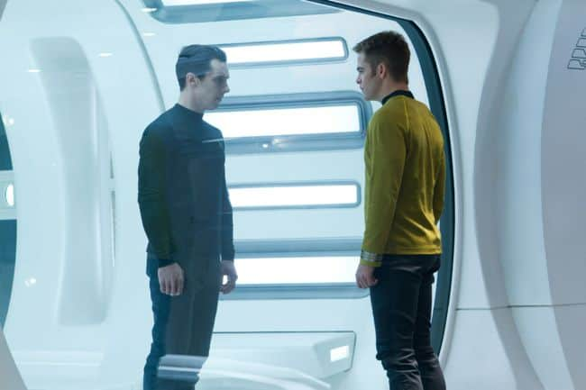 Chris Pine Benedict Cumberbatch Star Trek Into Darkness