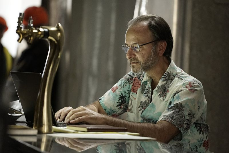 """THE BLACKLIST -- """"Sir Crispin Crandall"""" Episode 306 -- Pictured: Fisher Stevens as Marvin Gerard -- (Photo by: Peter Kramer/NBC)"""
