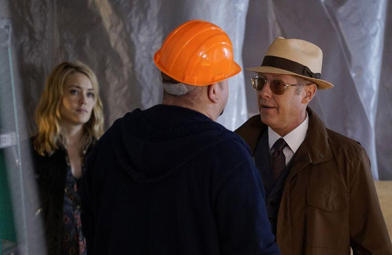 "THE BLACKLIST -- ""Sir Crispin Crandall"" Episode 306 -- Pictured: (l-r) Megan Boone as Liz Keen, James Spader as Red Reddington -- (Photo by: Peter Kramer/NBC)"