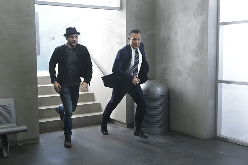 """Crazy Train"" -- Team Scorpion must stop a sabotaged runaway subway train with Paige and Ralph on board. Also, in his attempt to impress Happy, Toby has his first boxing match, on SCORPION, Monday, Nov. 2 (9:00-9:59 PM, ET/PT) on the CBS Television Network. Pictured: Eddie Kaye Thomas as Toby Curtis, Robert Patrick as Agent Cabe Gallo. Photo: Sonja Flemming/CBS ©2015 CBS Broadcasting, Inc. All Rights Reserved"