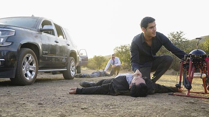 """Adaptation"" -- While Team Scorpion works to stop an influx of drugs being smuggled into the country via drones, Walter gives Happy and Toby an ultimatum on their new relationship, on SCORPION, Monday, Feb. 22 (9:00-9:59 PM, ET/PT) on the CBS Television Network. Pictured: Elyes Gabel as Walter O'Brien, Robert Patrick as Agent Cabe Gallo. Photo: Monty Brinton/CBS ©2016 CBS Broadcasting, Inc. All Rights Reserved"