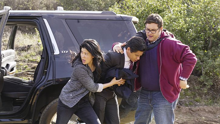 """Adaptation"" -- While Team Scorpion works to stop an influx of drugs being smuggled into the country via drones, Walter gives Happy and Toby an ultimatum on their new relationship, on SCORPION, Monday, Feb. 22 (9:00-9:59 PM, ET/PT) on the CBS Television Network. Pictured: Jadyn Wong as Happy Quinn, Jorge-Luis Pallo as DEA Agent Sanchez, Ari Stidham as Sylvester Dodd. Photo: Monty Brinton/CBS ©2016 CBS Broadcasting, Inc. All Rights Reserved"