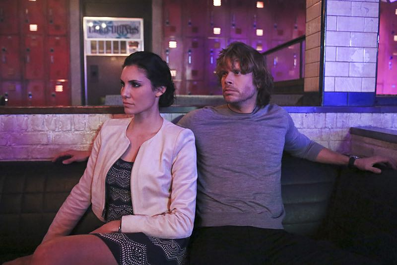 """""""Seoul Man"""" -- Pictured: Daniela Ruah (Special Agent Kensi Blye) and Eric Christian Olsen (LAPD Liaison Marty Deeks). While assigned to protective details for the commander of the Pacific Command, the team searches for a North Korean spy, on NCIS: LOS ANGELES, Monday, March 28 (9:59-11:00, ET/PT), on the CBS Television Network. Photo: Cliff Lipson/CBS ©2016 CBS Broadcasting, Inc. All Rights Reserved"""