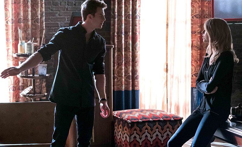 """The Originals -- """"Alone With Everybody"""" -- Image Number: OG316a_0033.jpg -- Pictured (L-R): Nathaniel Buzolic as Kol and Riley Voelkel as Freya -- Photo: Annette Brown/The CW -- © 2016 The CW Network, LLC. All rights reserved."""