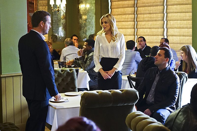 """""""Exchange Rate"""" -- Pictured: Chris O'Donnell (Special Agent G. Callen), Bar Paly (Anastasia """"Anna"""" Kolcheck) and Juan Javier Cardenas (Ricardo Pena/Roman Nulishkin). When a convicted Cuban spy escapes U.S. custody just before he is set to return to his country in a prisoner exchange, the team is shocked to learn that Anna (Bar Paly) helped him break out. Also, Deeks admits to Kensi that he thinks she is too messy, on NCIS: LOS ANGELES, Monday, March 14 (9:59-11:00 PM, ET/PT), on the CBS Television Network. Photo: Sonja Flemming/CBS ©2016 CBS Broadcasting, Inc. All Rights Reserved."""